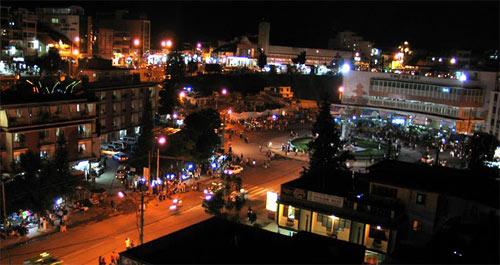 Trung tâm thành phố Tân An, thủ phủ của tỉnh Long An.