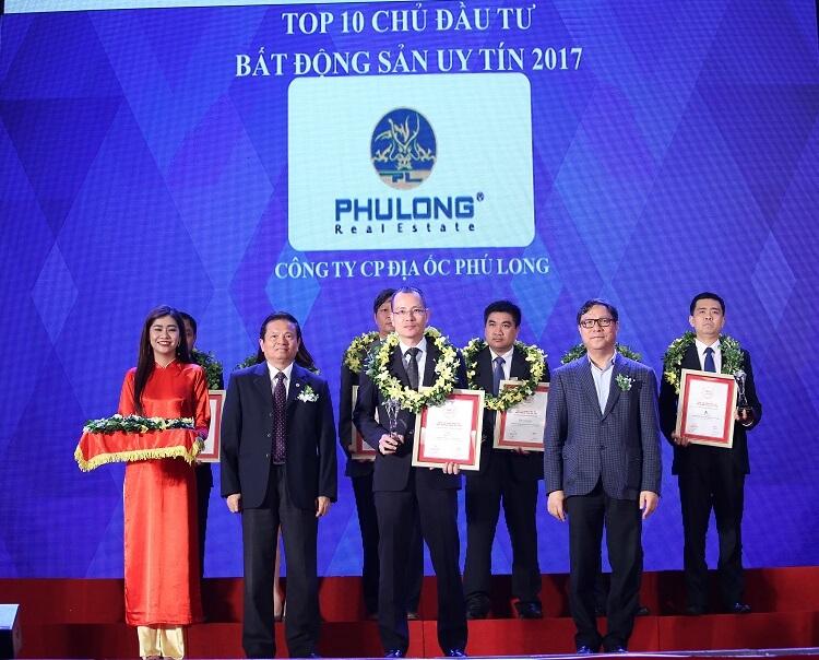 Bất động sản Phú Long nhận giairi thưởng nhà đầu tư uy tín
